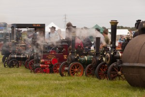 Steam Line up at the Chickerell Steam Rally 2014