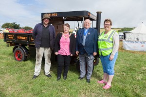 Mayor of Chickerell opens the Steam Rally in 2014