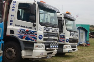 Portland Stone Lorries at 2014 Chickerell Steam and Vintage Show